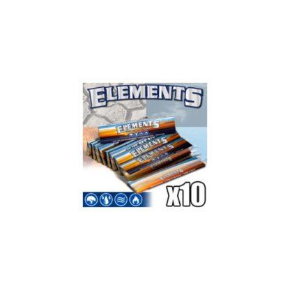 10 Paquets de feuilles a rouler Elements Slim