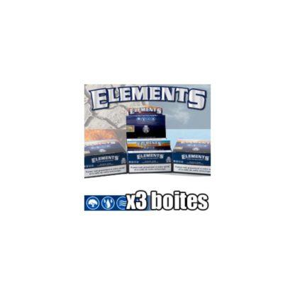 50 paquets de feuilles a rouler Elements Slim