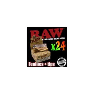 10 Paquets de Feuilles Longues a Rouler Raw + Tips